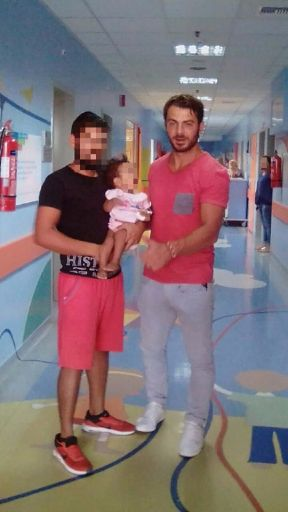 Ο Γιώργος επισκέπτεται το νοσοκομείο Παίδων Αγία Σοφία - 30 Αυγούστου 2017 Φωτογραφία: Παναγιώτα προδομένη Facebook