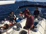 Ο Γιώργος κατά τη διάρκεια μέρας εκπαίδευσης για ιστιοπλοΐα στην Σκιάθο - 13 Νοεμβρίου 2016 Φωτογραφία: Nautical Club of Skiathos Facebook