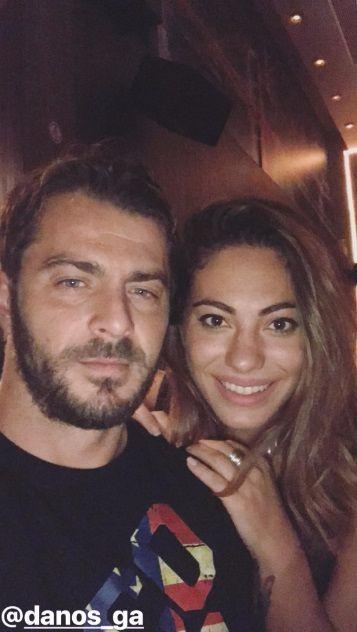 Ο Γιώργος και η Ευρυδίκη στο Avanti Cafe-Bar στις 9 Σεπτεμβρίου 2017 Φωτογραφία: evridiki_valavani Instagram