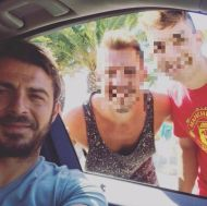 Ο Γιώργος μαζί με φανς στην Ουρανούπολη - 4 Σεπτεμβρίου 2017 Φωτογραφία: kwnstantinos_moutzikis Instagram