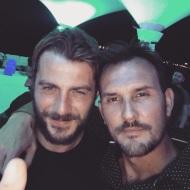 Ο Γιώργος με τον Γουίλι στο πάρτι του Survivor στο Grand Beach Λαγονήσι - 6 Ιουλίου 2017 Φωτογραφία: willakos Instagram
