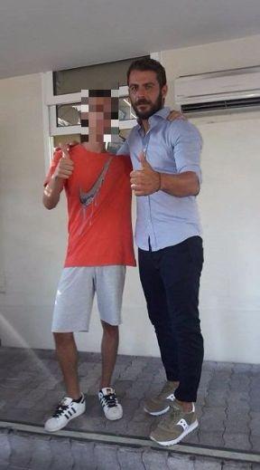 Ο Γιώργος με φαν στα στούντιο του ΣΚΑΙ - 10 Ιουλίου 2017