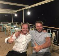 Ο Γιώργος στο Infinity Bllue restaurant όπου δείπνησε μαζί με φίλους - 16 Αυγούστου 2017 Φωτογραφία: infinity_blue_restaurant Instagram