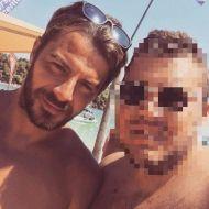Ο Γιώργος με φαν στη Σκιάθο στις 19 Αυγούστου 2017 Φωτογραφία: sakisstefanis Instagram