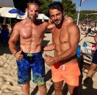 Ο Γιώργος με φαν στη Σκιάθο στις 19 Αυγούστου 2017 Φωτογραφία: christos__1926 Instagram