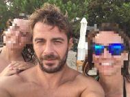 Ο Γιώργος με φανς στη Σκιάθο στις 12 Αυγούστου 2017 Φωτογραφία: Orsa Dioletta Facebook