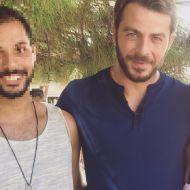 Ο Γιώργος μαζί με φαν στην Σκιάθο στις 14 Σεπτεμβρίου 2017 Φωτογραφία: kolegios Instagram