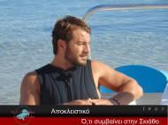"""Ο Γιώργος στις Κουκουναριές για το γύρισμα της συνέντευξης για την εκπομπή """"Στη φωλιά των Κου Κου"""" - 15 Σεπτέμβρη 2017 Φωτογραφία: Theodosis Parisis - Ό,τι συμβαίνει στην Σκιάθο Facebook"""