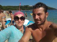 Ο Γιώργος με φαν στην Σκιάθο στις 17 Αυγούστου 2017 Φωτογραφία: Catherine Chantziara Facebook