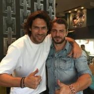 Ο Γιώργος και ο Γιάννης στο Avanti Cafe-Bar στην Καισαριανή - 18 Σεπτεμβρίου 2017 Φωτογραφία: gspaliaras Instagram