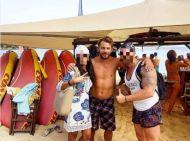 Ο Γιώργος με φανς στη Σκιάθο - 21 Αυγούστου 2017 Φωτογραφία: geo_christoforou11 Instagram
