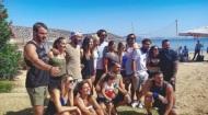Ο Γιώργος μαζί με σχεδόν όλους τους παίκτες του Survivor στη Βάρκιζα για να εκπληρώσουν μια ευχή - Make a Wish - 19 Σεπτεμβρίου 2017 Φωτογραφία: alexandros_nourtse Instagram