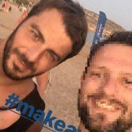 Ο Γιώργος μαζί με φαν στη Βάρκιζα όπου βρέθηκε μαζί με άλλους παίκτες του Survivor για το Make a Wish - 19 Σεπτεμβρίου 2017 Φωτογραφία: diamantisth Instagram