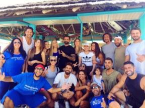 Ο Γιώργος μαζί με σχεδόν όλους τους παίκτες του Survivor στη Βάρκιζα για να εκπληρώσουν μια ευχή - Make a Wish - 19 Σεπτεμβρίου 2017 Φωτογραφία: kost4s Instagram
