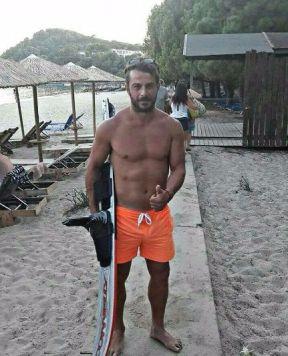 Ο Γιώργος στη Σκιάθο στις 19 Αυγούστου 2017