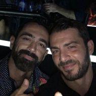 Ο Γιώργος μαζί με τον Μπο στο Club 22 - 21 Σεπτεμβρίου 2017 Φωτογραφία: official_danos_ga Instagram