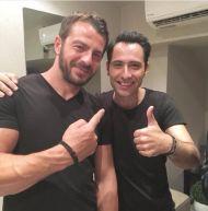 Ο Γιώργος μαζί με τον τραγουδιστή Πρόδρομο Μαζλουμίδη στο Club 22 - 21 Σεπτεμβρίου 2017 Φωτογραφία: prodromos_maz Instagram