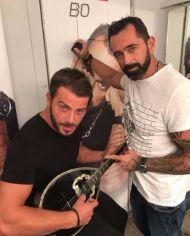 Ο Γιώργος μαζί με τον Μπο στο καμαρίνι - Club 22 - 21 Σεπτεμβρίου 2017 Φωτογραφία: renaeirini Instagram