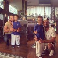 Ο Γιώργος και ο Μάριος με έναν μικρό φαν στο Avanti Cafe-Bar στην Καισαριανή στις 21 Σεπτεμβρίου 2017 Φωτογραφία: lydia_ssinni Instagram