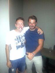 Ο Γιώργος με φαν στον Εύοσμο Θεσσαλονίκης στις 24 Σεπτεμβρίου 2017 Φωτογραφία: Ραφαηλ Ασβεστοπουλος Facebook