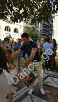 Ο Γιώργος στην Πλατεία Αριστοτέλους - 24 Σεπτεμβρίου 2017 Φωτογραφία: danos_ga Facebook