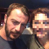 Ο Γιώργος με φαν στον Εύοσμο Θεσσαλονίκης στις 24 Σεπτεμβρίου 2017 Φωτογραφία: Elen Kleo Facebook