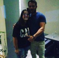 Ο Γιώργος με φαν στον Εύοσμο Θεσσαλονίκης στις 24 Σεπτεμβρίου 2017 Φωτογραφία: filladitouu Instagram