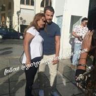Ο Γιώργος με φαν στην πλατεία Αριστοτέλους στη Θεσσαλονίκη - 24 Σεπτεμβρίου 2017 Φωτογραφία: raniaiosifidou Instagram