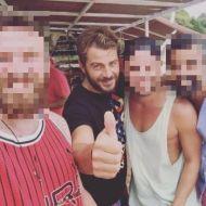 Ο Γιώργος με φανς στην Σκιάθο - 16 Ιουλίου 2017 Φωτογραφία: theporouts Instagram