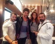 Ο Γιώργος-Ντάνος, ο Γιώργος-Χραν, η Ειρήνη και ο Μπο στο Avanti Cafe-Bar στις 29 Σεπτεμβρίου 2017 Φωτογραφία: avanti_cafe_bar Instagram