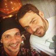 Ο Γιώργος-Ντάνος και ο Γιώργος-Χραν στο Avanti Cafe-Bar στις 29 Σεπτεμβρίου 2017 Φωτογραφία: hraniotis_giorgos_official Instagram