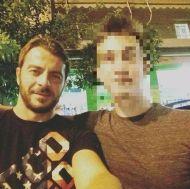 Ο Γιώργος μαζί με φαν στο Avanti Cafe-Bar στις 7 Σεπτεμβρίου 2017