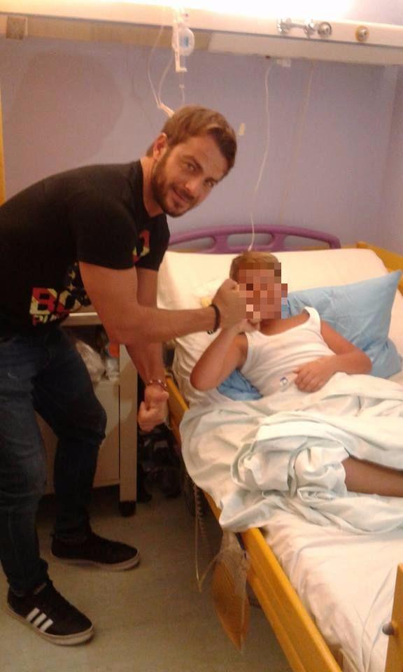 """Ο Γιώργος επισκέπτεται παιδιά στο Γενικό Νοσοκομείο Παίδων Αθηνών """"Παναγιώτη & Αγλαΐας Κυριακού"""" - 7 Σεπτέμβρη 2017 Φωτογραφία: Ηλεκτρα Τασση Facebook"""