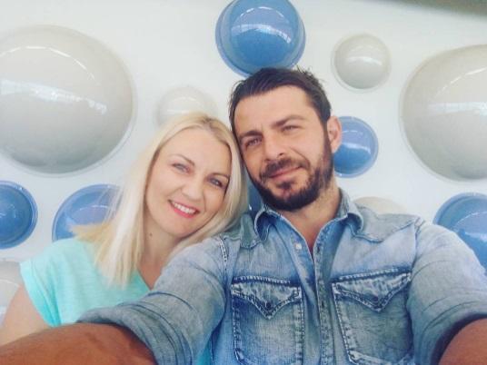 """Ο Γιώργος με τη δημοσιογράφο Χρύσα Ξανθή από το """"Γνωρίστε την Ελλάδα"""" - 12 Οκτωβρίου 2017 Φωτογραφία: xrisa_xanthi Instagram"""