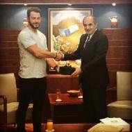 Ο Γιώργος με τον Πρόεδρο της Κυπριακής Βουλής, Δημήτρη Συλλούρη - 13 Οκτωβρίου 2017 Φωτογραφία: official_danos_ga Instagram