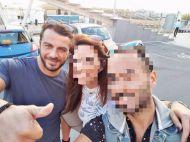 Ο Γιώργος με φανς στο Παλιό Λιμάνι Λεμεσού στην Κύπρο στις 15 Οκτωβρίου 2017 Φωτογραφία: charischr_reflection Instagram