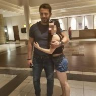 Ο Γιώργος με φαν στο ξενοδοχείο Hilton Park στη Λευκωσία - 15 Οκτωβρίου 2017 Φωτογραφία: frankie.panayii μέσω giorgos_aggelopoulos_friends Instagram