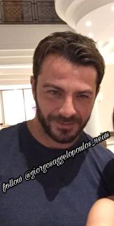 Ο Γιώργος στο ξενοδοχείο Hilton Park στη Λευκωσία - 15 Οκτωβρίου 2017 Φωτογραφία: n.panayi Instagram