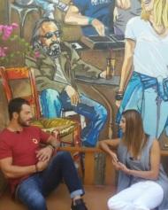 """Ο Γιώργος κατά τη διάρκεια της συνέντευξής του στην Κωνσταντίνα Ευριπίδου για την εκπομπή """"Όλα για σένα"""" - 17 Οκτωβρίου 2017 Φωρογραφία: gregoreszakharias Instagram"""