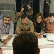 Ο Γιώργος στο Athens Art Studio με την ομάδα των φωτογράφων Αλέξανδρο Βογιατζάκη και Γιώργο Μυριαγκό στις 18 Οκτωβρίου 2017 Φωτογραφία: alexandros_georgio_vogiatzakis Instagram