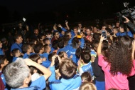 Ο Γιώργος στο γήπεδο Τραχώνων στον Άλιμο όπου βρέθηκε για να συμμετάσχει στον φιλανθρωπικό ποδοσφαιρικό αγώνα που διοργάνωσε ο Δήμος - 23 Οκτωβρίου 2017 Φωτογραφία: TLife