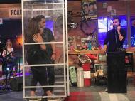 """Ο Γιώργος κατά τη διάρκεια του γυρίσματος της εκπομπής """"The Λούης Night Show"""" - 24 Οκτωβρίου 2017 Φωτογραφία: alphanewslive"""