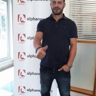 Ο Γιώργος στα γραφεία του Alpha Κύπρου κατά την επίσκεψή του στο νησί στις 24 Οκτωβρίου 2017 Φωτογραφία: alphanewslive
