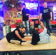 """Ο Γιώργος και ο Λούης κατά τη διάρκεια της εκπομπής """"The Λούης Night Show"""" - 24 Οκτωβρίου 2017 Φωτογραφία: alphatvcyprus Instagram"""
