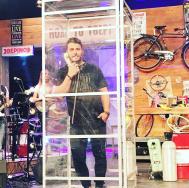 """Ο Γιώργος κατά τη διάρκεια της εκπομπής """"The Λούης Night Show"""" - 24 Οκτωβρίου 2017 Φωτογραφία: alphatvcyprus Instagram"""