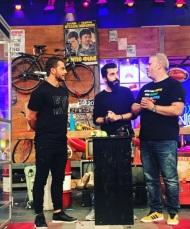 """Ο Γιώργος κατά τη διάρκεια του γυρίσματος της εκπομπής """"The Λούης Night Show"""" - 24 Οκτωβρίου 2017 Φωτογραφία: alphatvcyprus Instagram"""