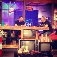 """Ο Γιώργος κατά τη διάρκεια του γυρίσματος της εκπομπής """"The Λούης Night Show"""" όπου έδωσε συνέντευξη στην Κύπρο - 24 Οκτωβρίου 2017 Φωτογραφία: xaris_oly Instagram"""