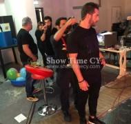 """Ο Γιώργος στα παρασκήνια της εκπομπής """"The Λούης Night Show"""" στην Κύπρο - 24 Οκτωβρίου 2017 Φωτογραφία: showtimecy,com"""