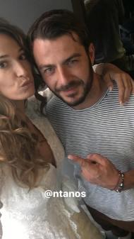 """Ο Γιώργος με την Εύα Λάσκαρη στα backstage του fashion shooting για την εκπομπή """"Στη Φωλιά των Κου Κου"""" του Star - 4 Οκτωβρίου 2017 Φωτογραφία: evalaskari Instagram"""