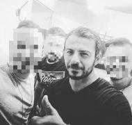 Ο Γιώργος μαζί με φίλους του στη Σκιάθο στις 7 Οκτωβρίου 2017 Φωτογραφία: Danos_ga Facebook